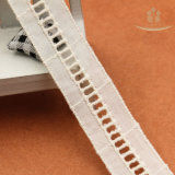 H20001 최신 판매 사다리 디자인 형식 면 레이스 의류 훈장을%s 백색 줄무늬 레이스