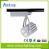2/3/4 Pins 30W Blanco Epistar COB colgando de la pista de luz para tiendas