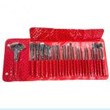as melhores escovas vermelhas da fundação 24PCS personalizaram jogos de escovas da composição