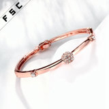 Bracelet de luxe en cristal de strass en cristal en alliage de mode 2017