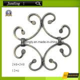 Projetos decorativos do rolo do ferro feito para a porta & as cercas do ferro feito