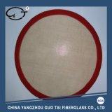 Les silicones ronds font le couvre-tapis cuire au four pour le gâteau de biscuit de pizza de traitement au four