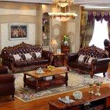 居間の家具セットのための木製の革ソファー