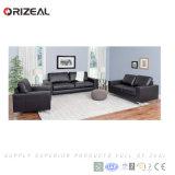 Orizeal 큰 편한 폴딩 검정 가죽 소파 (OZ-OSF005)