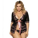 Les dames chaudes en gros les meilleur marché de 3 parties plus la lingerie sexy de Chemise de taille