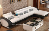 Sala de estar casera L sofá de cuero de la esquina moderno de la dimensión de una variable (HX-SN047)
