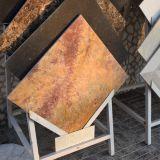 Opgepoetste Verglaasde Gouden Marmeren Plak /Tile met Uitstekende kwaliteit