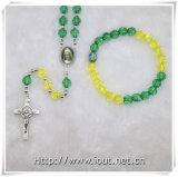 宗教記事のセットされるプラスチック多彩なビードの数珠(IOcrs007)
