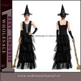 Costume adulto sexy di Cosplay della strega di Halloween del partito per le ragazze delle donne (TLZQ1516)