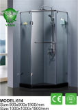 簡単なFramelessの緩和されたガラスの滑走のシャワー機構