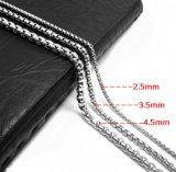 Acier titanique 2.5mm de collier d'hommes à chaînes de tige 3.5mm 4.5mm