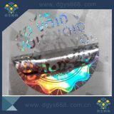 Het nietige Etiket van het Hologram van de Kleur van de Stamper Duidelijke Zilveren