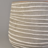 Jarro de velas de concreto em forma redonda com capacidade 16 oz