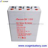 Batterie 2V1500ah pour la mémoire solaire, Opzv2-1500 de gel d'Opzv
