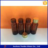 Glasflaschen des bernsteinfarbigen Sirup-20ml mit Besetzer-offensichtlicher Aluminiumschutzkappe