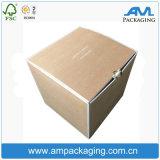 Rectángulo de envío del cartón del almacenaje del embalaje del cubo del papel de cartulina acanalada