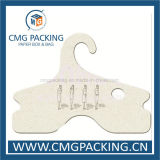 Logotipo de atacado impresso Custom Recycled Paper Clothing Hanger com design gratuito