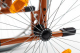 Sillón de ruedas ligero, plegable, manual de aluminio (AL-002)