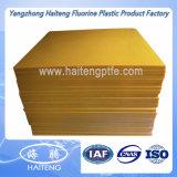 Feuille jaune foncée d'unité centrale de feuille de polyuréthane avec du matériau 100% de polyéther