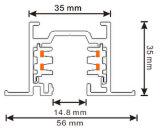 정연한 알루미늄은 3개의 회로 중단했다 LED 궤도 가로장 (XR-RL510)를
