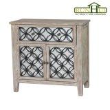 Mobilia di legno Nightstand del salone dei due cassetti nel rivestimento naturale del legname