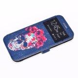 en móvil de la PU de las existencias o del modelo del OEM/el caso de cuero hermosos de la cubierta del teléfono de la impresión de Filp de la carpeta de la célula para Samsung A5 2017