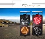 Feu de signalisation solaire rouge jaune personnalisé de signal d'alarme de 300mm