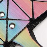 Bolso de hombro rombal de la PU de la geometría del arco iris (A0112)