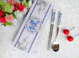 Керамический Cutlery нержавеющей стали ручки установил с ложкой и палочка