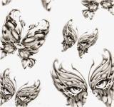 etiqueta engomada temporal impermeable del tatuaje del diseño del tótem de la máscara de la manera