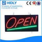 Hohes helles LED geöffnetes Zeichen des Hidly Vierecks-