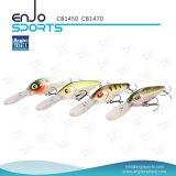 Señuelo selecto de los trastos de pesca del salto profundo del pescador con Vmc los ganchos de leva agudos (CB1450)