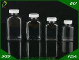 botella del plástico del claro del animal doméstico de la cápsula de la medicina 100ml