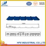 Feuilles ondulées galvanisées de toiture pour le matériau de construction