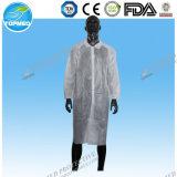 Устранимая Nonwoven защитная форма пальто лаборатории, форма лаборатории, мантия лаборатории