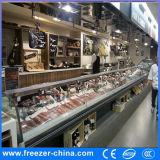 Baixo Showcase do refrigerador da carne fresca do ruído/Showcase alimento do supermercado fino/refrigerador do marisco