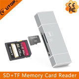 Читатель карточки Microsd металла (TF) +SD для iPhone и Android черни OTG (YT-R004)