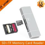 Читатель карточки Microsd металла (TF) +SD OTG для черни iPhone Android (YT-R004)