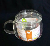 Copo creativo do vidro da parede do dobro da caneca de café do chá Home