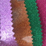 Couro quente do plutônio do Glitter da colagem do derretimento para a cópia Hw-1775 da etiqueta do vestuário