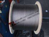 Câble d'acier inoxydable de solides solubles 316