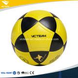 Шарики футбола размера 5 свободно образца яркие желтые навальные
