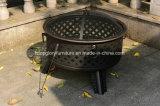 Parrilla al aire libre del Bbq del arrabio con la barbacoa de la placa de la ceniza (TGFT-136)