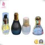 bouteille claire transparente du tube de verre 10/15/20/30/50/100ml avec le compte-gouttes de luxe d'or en aluminium d'huile essentielle