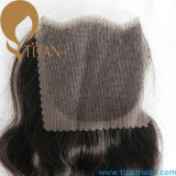 "New Style Indian Hair Piece 4 ""X4"" Encerramento de renda"