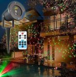Proyector al aire libre colorido 2017 de la decoración de la luz del proyector del laser del paisaje del LED