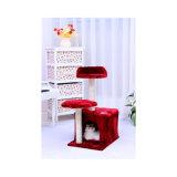 Gato da mobília do gato da firma do velo da qualidade que joga a casa de árvore