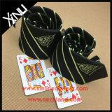 Lazos de encargo tejidos telar jacquar hecho a mano de la universidad del poliester