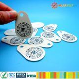 hybride Klassiek 1k keychain kenteken MIFARE + UHFEPC1 gen2 RFID keyfob