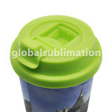 Taza modificada para requisitos particulares del cono para el regalo de la botella de Polyster de la sublimación